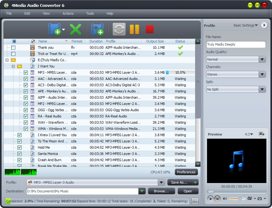 4Media Audio Converter 6.3.0.0805 full