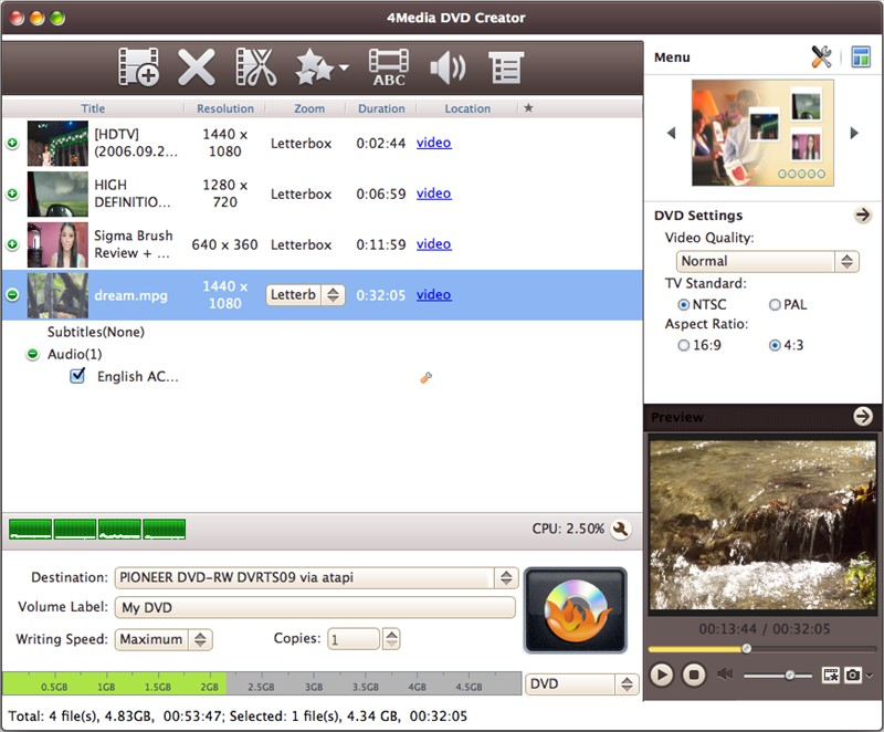 DVD creator Mac, DVD creator, avi to dvd, mpeg to dvd, DVD maker, DVD burner