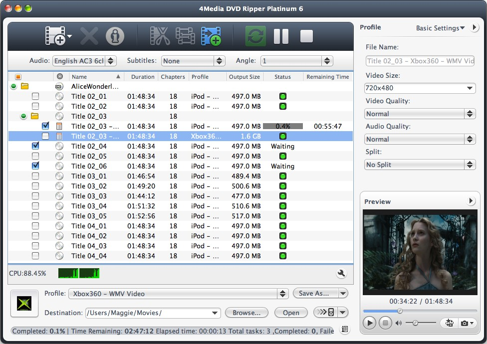 4Media DVD Ripper Platinum for Mac 6.0.3.0521