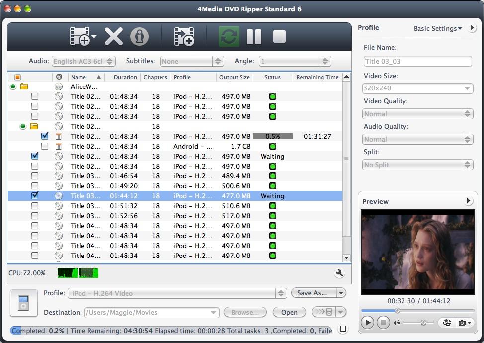 4Media DVD Ripper Standard 6 for Mac