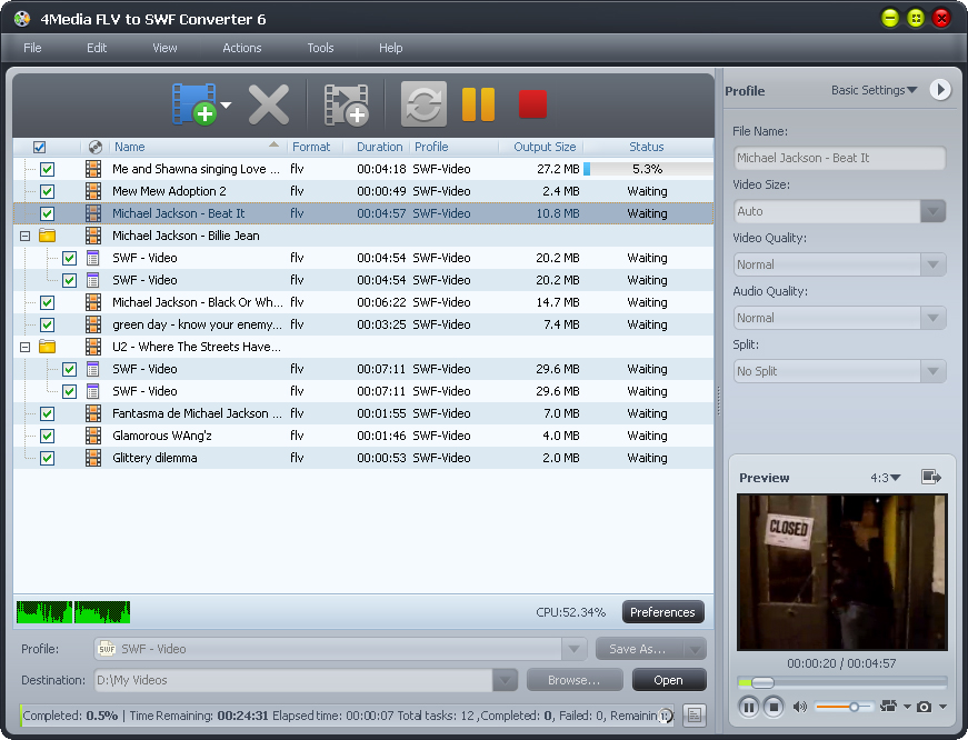 4Media FLV to SWF Converter 6.0.3.0421 full