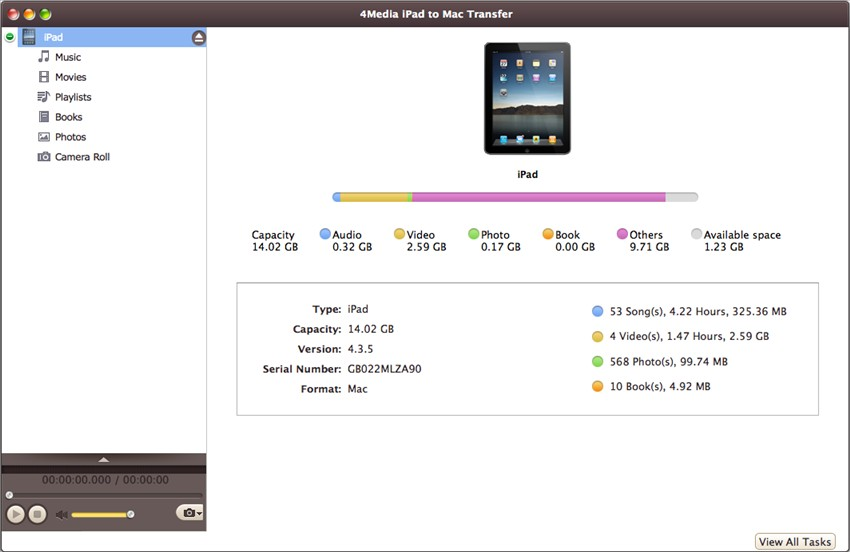 Click to view 4Media iPad to Mac Transfer 5.4.16.20130918 screenshot