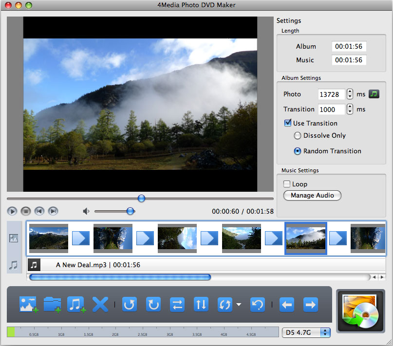 4Media Photo DVD Maker for Mac 1.0.1.0719