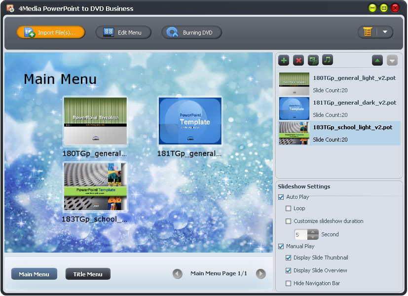 4Media PowerPoint to DVD Business screenshot