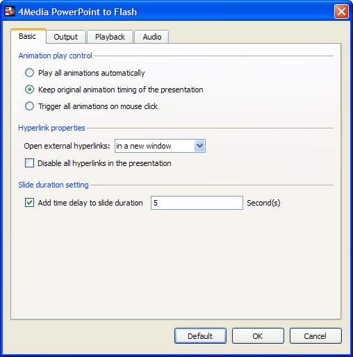 4Media PowerPoint Converter Pro Screenshot