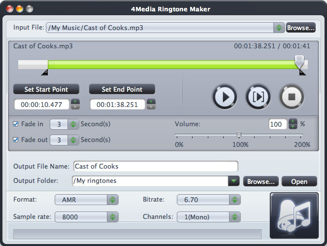 4Media Ringtone Maker for Mac 2.0.1.0528 full