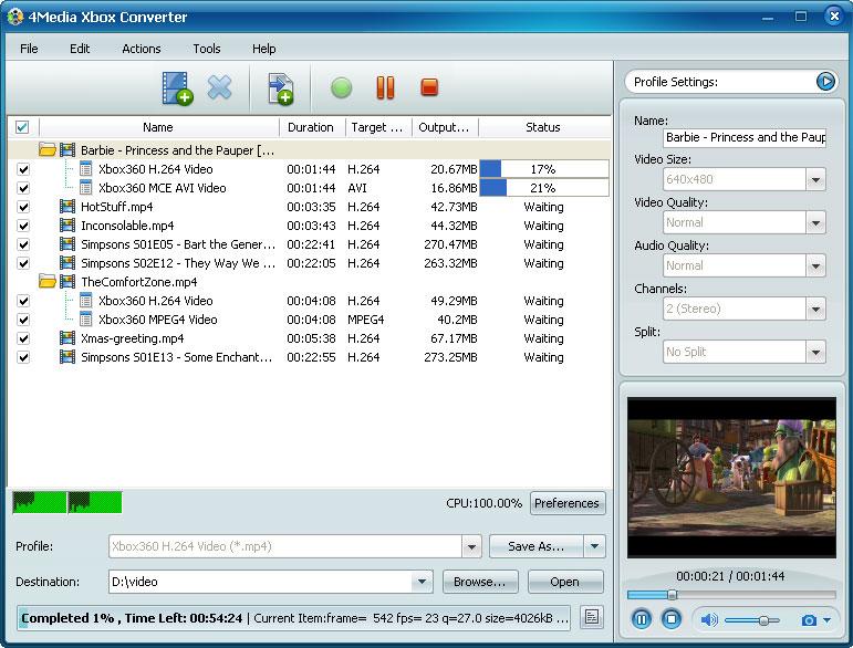 التعريب 606 ـ 4Media Xbox Converter 5 لتحويل صيغ الفيديو إلى Xbox أو Xbox 360 m-xbox-converter.jpg