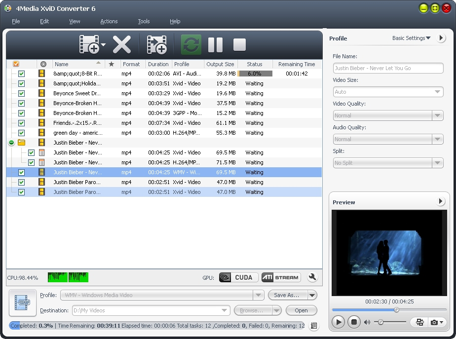4Media XviD Converter screenshot
