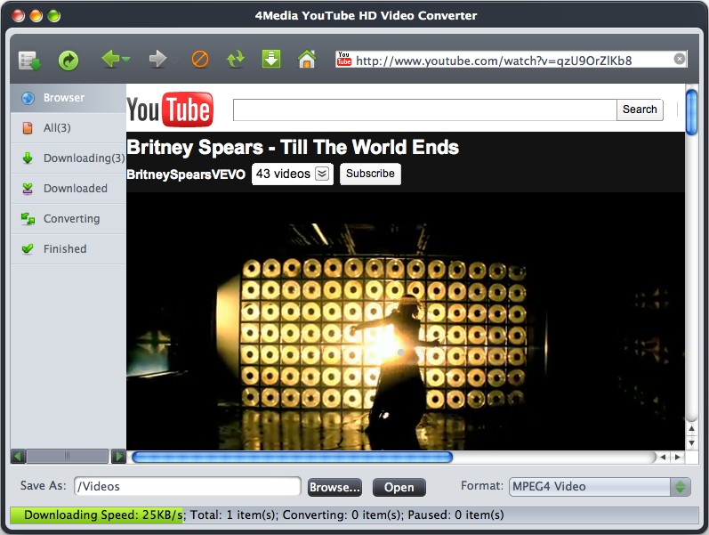 Download and convert YouTube HD videos to Mac