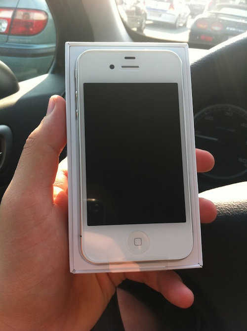 white iphone4